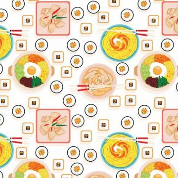 Free vector Korean Food Pattern Vector #21094