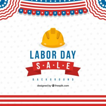 Free vector Labor day with helmet  #21764