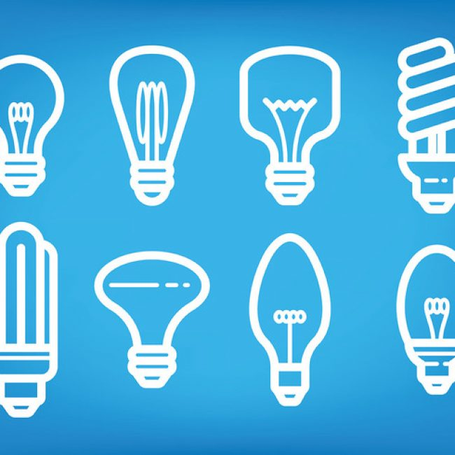 Free vector Light Bulb Ampoule Icons Vector #20212