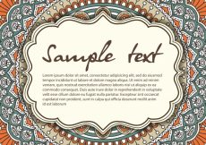 Free vector Mandala illustration with space for text #19916