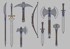 Free vector Medieval Weapons #20222