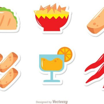 Free vector Mexican Food Icons Vectors Pack #21080