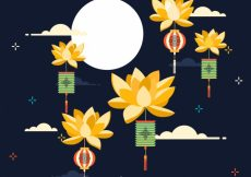 Free vector Middle autumn festival, nice background #21708