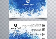 Free vector Modern business card with blue water concept #22282