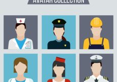 Free vector Modern collection of professions avatars #22086