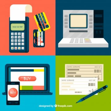 Free vector Modern set of online payment elements #22961