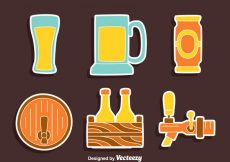 Free vector Nice Beer Element Collection Vector #22942