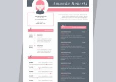 Free vector Nice resume template #21516