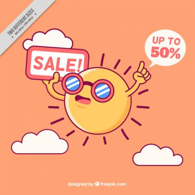 Free Summer Sale Graphics for the End of Season