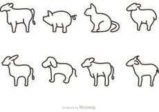 Free vector Outline Animal Vectors Icons #22178