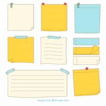 Free vector Pack of hand drawn sticky notes #20243