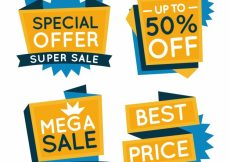 Free vector  pack of special offer banners #19813
