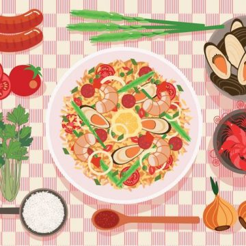 Free vector Paella on a Plate Vector #19345