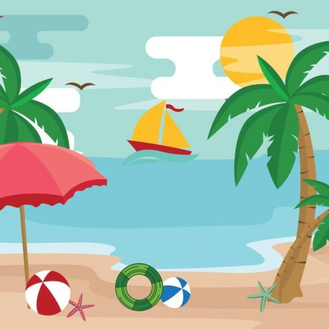 Free vector Palm Tree Summertime Vacation Vector #20670