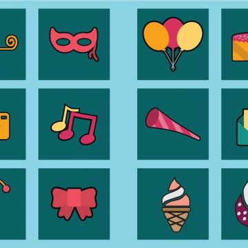 Free vector Party Icon Set #23247