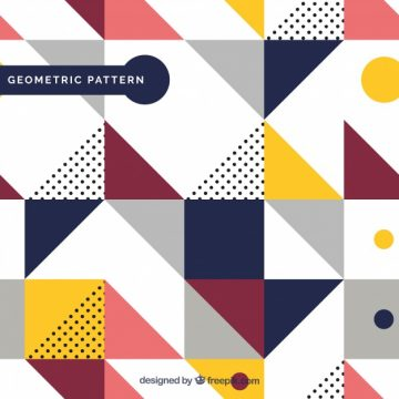 Free vector Pattern of geometric colored shapes  #22695