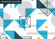Free vector Pattern of geometric shapes with blue triangles #22819