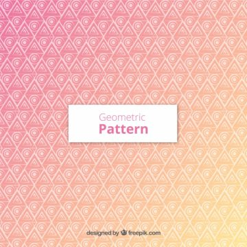 Free vector Pattern with triangles and circles #22821