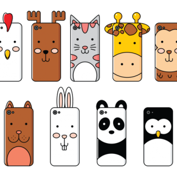 Free vector Phone Case Cartoon Animals #22188