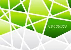 Free vector Polygonal background of green color #19401