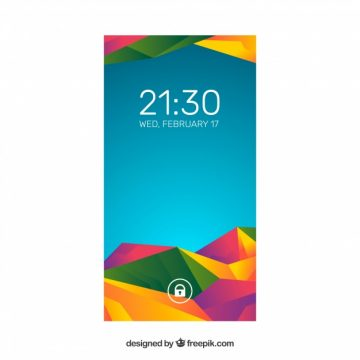 Free vector Pretty modern colorful abstract wallpaper of mobile #20275