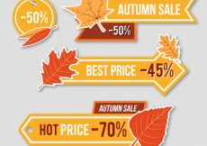 Free vector Price banners for autumn #21626