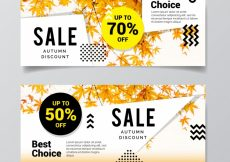 Free vector Promotions banners for autumn, modern style #21642