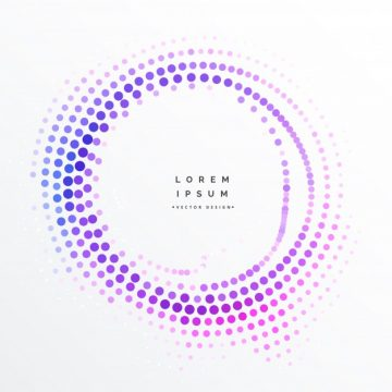 Free vector Purple circular halftone dots background #20917