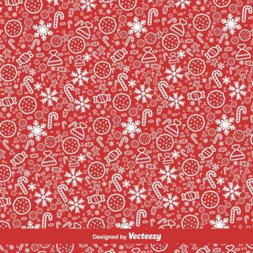 Free vector Red Christmas Vector Pattern #21663