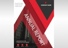 Free vector Red creative annual report book cover template #19352