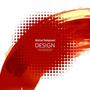 Free vector Red watercolor design with halftone dots #22300