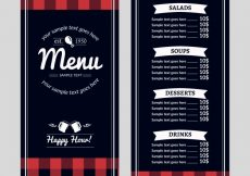 Free vector Restaurant menu with happy hour #19035