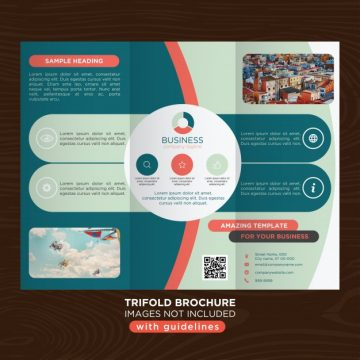 Free vector Round design trifold business template  #21172