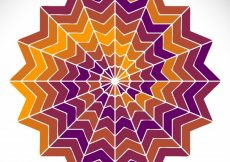 Free vector Round vector ornament in ethnic style hand draw #20006