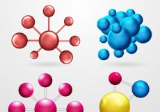 Free vector Set of colored molecules #22183