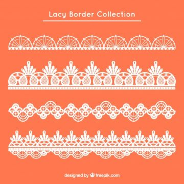Free vector Set of four retro lace borders #20357