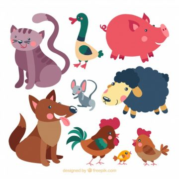 Free vector Set of nice hand drawn animals #22655