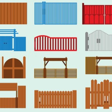Free vector Set Of Open Gate Icon #22374