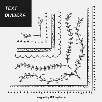 Free vector Set of ornaments for text #19882