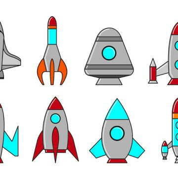Free vector Set Of Starship Icons #22340