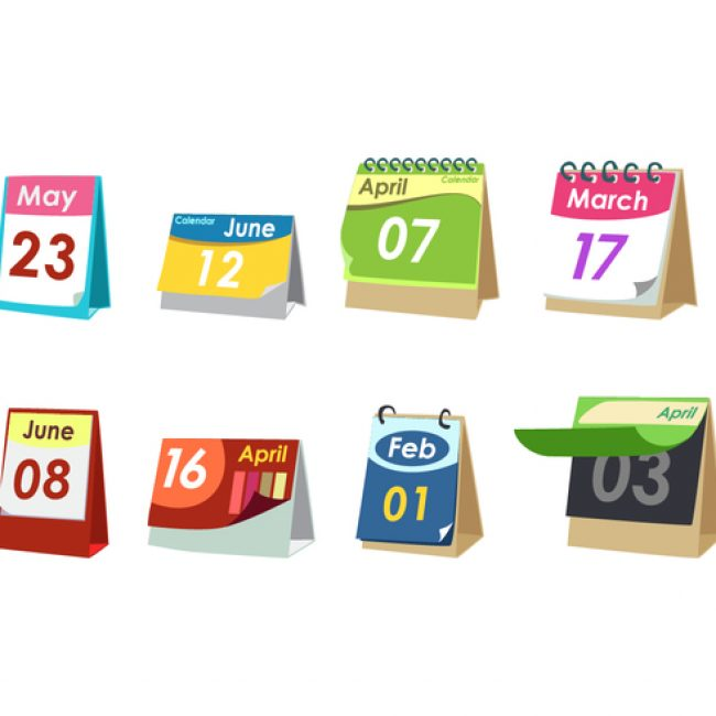 Free vector Simple Desktop Calendar Free Vector #23271