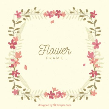 Free vector Simple floral frame #23165