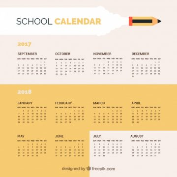 Free vector Simple school calendar 2017 #23141