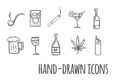 Free vector Smoking and Drinking Vector Icons #20476