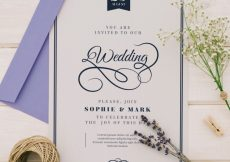 Free vector Sophisticated wedding invitation #22066