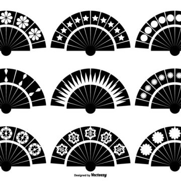 Free vector Spanish Fan Vector Shapes #19215