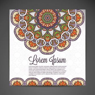 Free vector Spiritual card with mandala decoration #20835