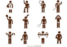 Free vector Sport Stick Figure Icons Vector Pack #23068