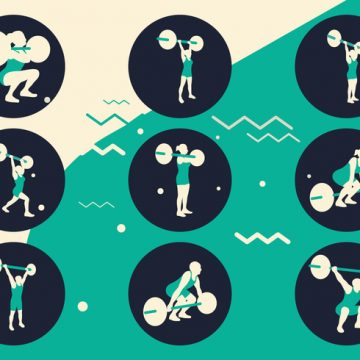 Free vector Sports Exercising Silhouettes #23106
