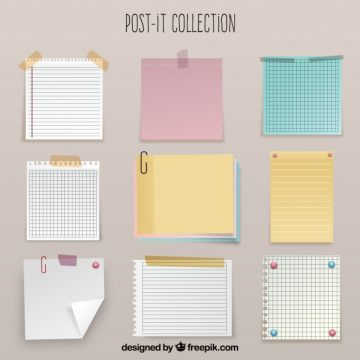 Free vector Sticky notes and sheets in realistic style #20235